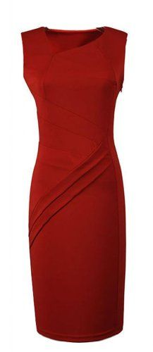 WIIPU Red Bodycon V-Neck Dress Cocktail Celebrity RedCarpet pencil dress(J2-3) Was: $99.99 Now: $29.99