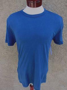 VelvetMen Velvet by Graham & Spencer T-Shirt Crew Neck Blue M NWT $59  #Velvet #BasicTee
