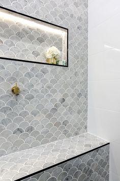 The Block 2016 master bathroom reveals: Sasha and Julia's master bathroom.