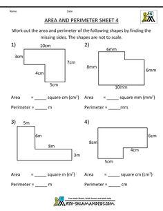 math worksheets 4th grade area perimeter 4