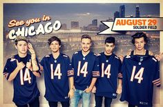 One Direction at Chicago!!!!!!!!!!!!! I WANT TO GO SO BAD!!!!!!!!!!!!!!