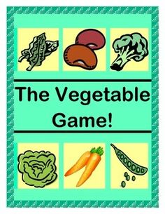 """Play an ACTIVE GROUP GAME to teach about VEGETABLES as healthy food choices! Learn how different Vegetables grow. Identify Vegetables as plant parts. Find tasty ways for kids to actually EAT Vegetables! Use the 12 VEGETABLE TEMPLATES as a CRAFT and for game pieces. Learn a funny RHYME for game play. Use the """"TALKING POINTS"""" for age-appropriate veggie info. Try my ideas for a """"VEGGIE TASTING PARTY"""" -- MULTI-SENSORY LEARNING! (10 pages) From Joyful Noises Express TpT! $"""