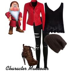 Character Makeover - Grumpy by skrillexgirl on Polyvore featuring polyvore fashion style River Island Miss Selfridge King & Fifth Supply Co.