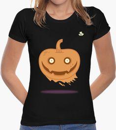 Camiseta Halloween · Calabaza Camiseta mujer corte clásico  19,90 € - ¡Envío…