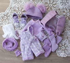 This charming handmade complete set will fit Dianna Effner Little Darling Dolls. #outfitdoll #clothesfordoll #littledarling