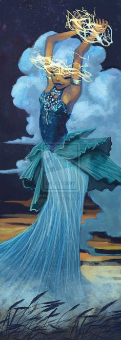 Southern Wind: Storm Bringer by Kelsey Michele - Greek - Notus - the south wind one of the Anemoi (wind gods)