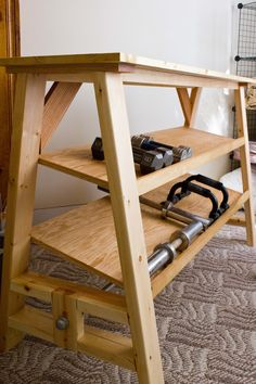 Ana White | Dumbbell Table Desk - DIY Projects