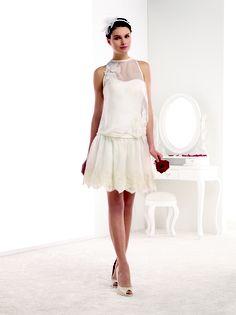 MELLE ALICIA Petite robe courte bustier satin et jupette de tulle ...