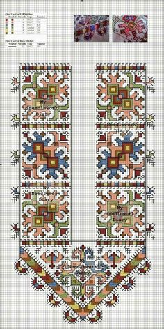 My Needlework Diary Hungarian Embroidery, Embroidery Motifs, Cross Stitch Embroidery, Embroidery Designs, Cross Stitch Borders, Cross Stitch Designs, Cross Stitching, Cross Stitch Patterns, Embroidery Techniques