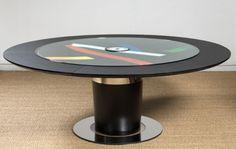 Didier Marfaing Mobilier  Table d'artiste DORNY sérigraphie Bertrand Dorny. Un coup de coeur de la rédaction de www.source-a-id.com