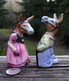 Mr. and Mrs. Mule Salt Pepper Shakers  by TheOddOldTriednTrue, $15.00