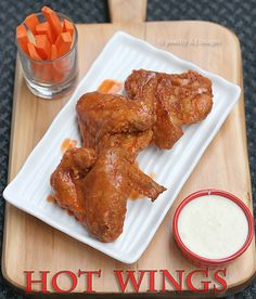 Wonderful Hot Wings from @peachkisses Peach Kitchen