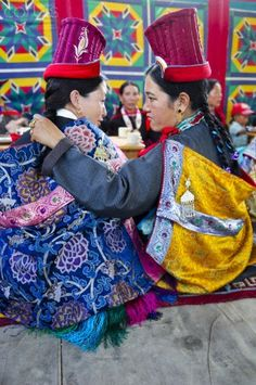 traditional clothes. Tibet