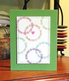 Thank you circles card using a Simonsaysstamp.com stamp set
