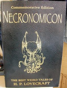 H.P Lovecraft's story collection, Necronomicon.