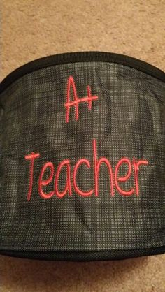 Great gift for your child's teacher. Fill it with sweet treats or art and craft supplies. (Photo: Megan M.)