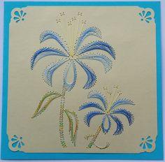 Fadengrafik+Doppelkarte+mit+Umschlag+BLUMEN+32+von+Rene´s+Fadengrafiken+auf+DaWanda.com