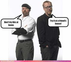 Mythbusters- this will make great party decor!!