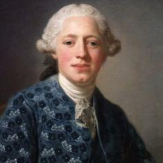 Portrait du baron Thure Leonard Klinckowström, avec des lettres et des livres, 1758 Alexander Roslin Détail