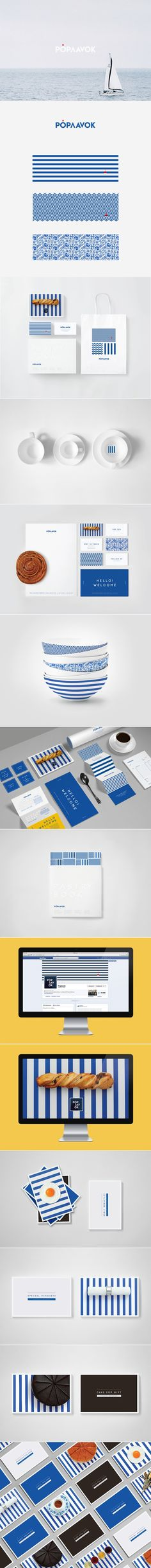 Poplavok (Russian restaurant on the water) | Ira Sm. Beautiful blue #identity #packaging branding PD