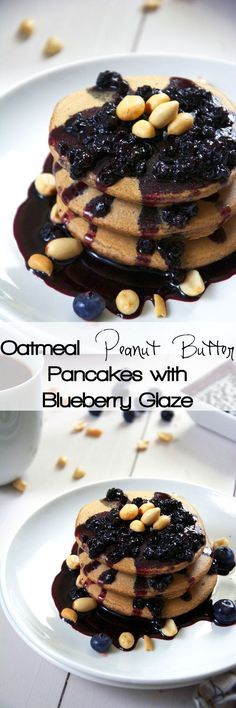 Healthy Oatmeal Pancakes, Easy, 21 day Fix, No Flour, Protein, Fluffy, Applesauce, Peanut Butter