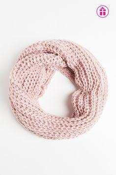 Braided knit eternity scarf