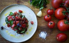 This Tomato and Basil Bruschetta makes the most of sweet summer tomatoes and aromatic basil - a match made in heaven. It is easy and quick to make and a real family fave!