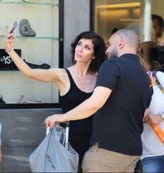 Giorgia taking a selfie with one of her many fans.