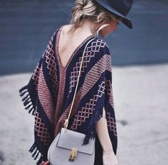 Style Bloggers showing off how to wear Southwestern Style - poncho style!