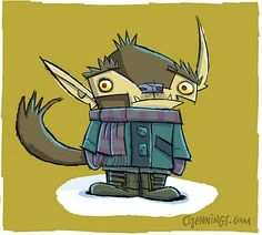 Great little Werewolf by Christopher S. Jennings. His blog is FILLED with his art work, check it out.