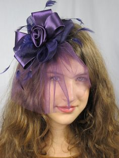 Image detail for -Purple Fascinators | Aubergine Purple Fascinators | Purple Hair ...