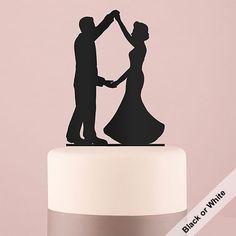 Dancing Silhouette Acrylic Wedding Cake Topper