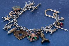 Teen Wolf inspired charm bracelet with 13 by AmberArtfulArtifacts