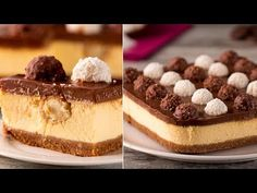 Nu am gustat în viața mea ceva mai bun - Ferrero Rocher Cheesecake.O cap. Cheesecake Ferrero Rocher, Rocher Torte, Romanian Desserts, Cake Decorating Videos, Angel Cake, Salty Cake, No Cook Desserts, Savoury Cake, Something Sweet