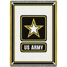U.S. Army Art Tapestry Throw