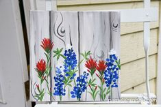 How to Paint Indian Paintbrush one stroke at a time. Easy beginner painting lesson in acrylic. Add this to the Texas Bluebonnet tutorial for some wildflower fun