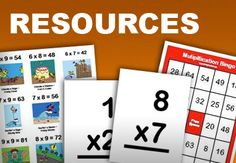 """Multiplication.com - games and more for practicing #multiplication. Students can play single-player and multi-player games. Before they play the games students can refresh their memories by working through the """"fact"""" and """"quiz"""" navigators that provide visual explanations of multiplication facts. #math #elementary"""