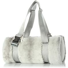 Pre-Owned Chanel Gray Rabbit Sport Duffle