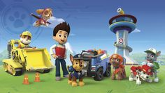 Nickelodeon's Paw Patrol XL Pre-Pasted Surestrip Wall Mural 10.5' x 6'