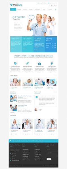 MediCure Responsive #WordPress Theme for Health, Medical Sites http://www.themesandmods.com/premium-wordpress-themes/medicure/