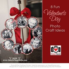 Valentine Photo Craft Ideas and Projects - via iHeartFaces.com #yearofcelebrations