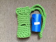Dog Waste Poop Bag Roll Holder With String by KALUAKAUKAUCRAFT, $4.98