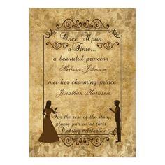 Vintage wedding Bride Groom Once upon a time Custom Invitations http://www.zazzle.com/vintage_wedding_bride_groom_once_upon_a_time_invitation-161062478673776938