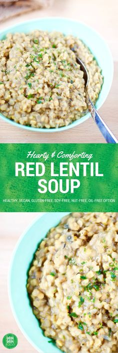 Red Lentil Soup | WIN-WINFOOD.com Filling, comforting and so simple to make! #vegan #healthy #glutenfree #oilfree option