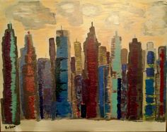 I am intrigued by abstract cityscapes and would like to do lots of these