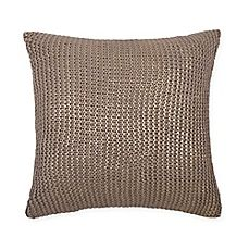 image of Metallic Gold 18-Inch Square Throw Pillow