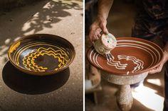 Clive Bowen large slipware dishes                              …