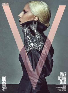 Lady Gaga wearing archival Alexander McQueen - V Magazine (US)