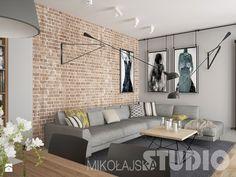 Znalezione obrazy dla zapytania mieszkanie w stylu loft Small Living Rooms, Living Room Modern, Home Living Room, Living Room Decor, Brick Interior, Interior Design Living Room, Living Room Designs, Home Decor Kitchen, Decoration