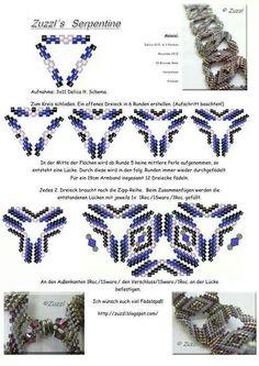 Beaded beads tutorials and patterns, beaded jewelry patterns, wzory bizuterii koralikowej, bizuteria z koralikow - wzory i tutoriale Beading Patterns Free, Seed Bead Patterns, Beading Tutorials, Weaving Patterns, Beaded Jewelry Designs, Bead Jewellery, Beaded Beads, Beaded Bracelets, Beading Techniques